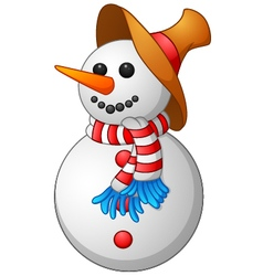 Snow Man cartoon vector image