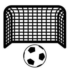 Soccer ball and gate penalty concept goal vector