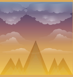 Sunset and alps design vector