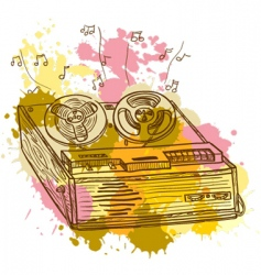 tape recorder vector image
