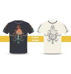 Tshirt Design Abstract Mushroom Three vector image