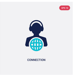 Two color connection icon from customer service vector