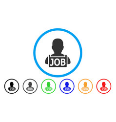 unemployed rounded icon vector image