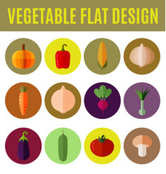 vegetable flat design vector image