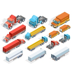Vehicle Isometric Collection vector