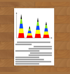 Vertical pyramidal statistics graph vector