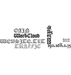 Ways to gain traffic to your website text word vector
