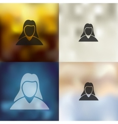 Woman icon on blurred background vector