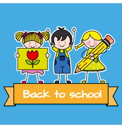 children back to school vector image vector image