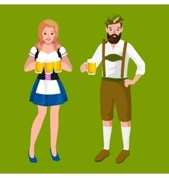 germany beer festival oktoberfest bavarian beer vector image vector image