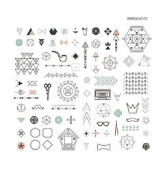 minimal geometric linear shapes vector image vector image
