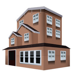 3d design for tall wooden house vector image