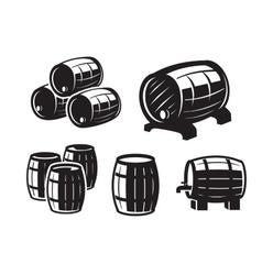 black barrels icons vector image