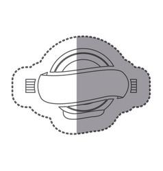 figure circular symbol with decorative icon vector image
