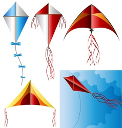 Kite set vector