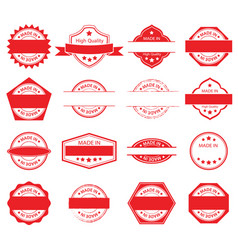made in label set 01 vector image
