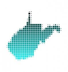 map of west Virginia vector image vector image