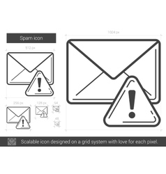 Spam line icon vector image vector image