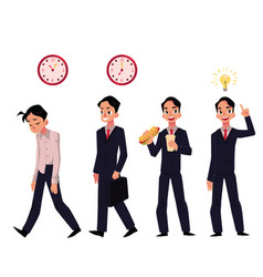 young businessman employee in various business vector image vector image