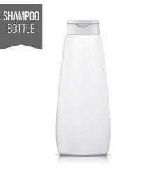 shampoo packaging isolated blank realistic vector image vector image