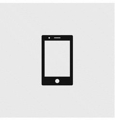 smartphone icon simple vector image vector image