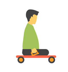 transport trolley for disabled footless person vector image vector image
