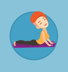 woman practicing yoga upward dog pose vector image