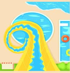 aquapark descent from a hill vector image vector image