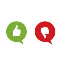 like and dislike labels vector image
