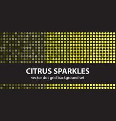 polka dot pattern set citrus sparkles seamless vector image vector image