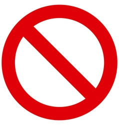 Prohibited sign vector image vector image