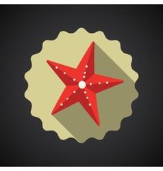 Summer Travel Sea Star flat icon vector image
