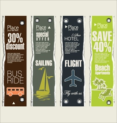 Travel banner set vector