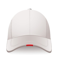 white sports cap with red label and room for your vector image vector image