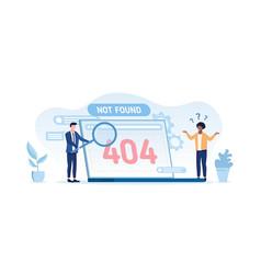 404 computer error - not found vector