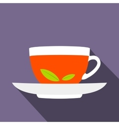 A cup of tea icon flat style vector image