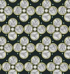 Abstract Circles Dark Endless Seamless Pattern vector image