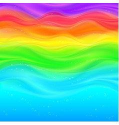 Abstract rainbow waves background vector