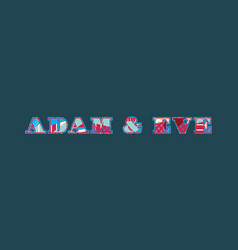 Adam eve concept word art vector