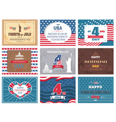 American national holiday 4th of july greetings vector