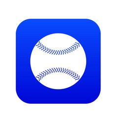 baseball icon digital blue vector image