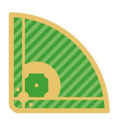 Baseball playing field vector