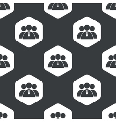 Black hexagon user group pattern vector image