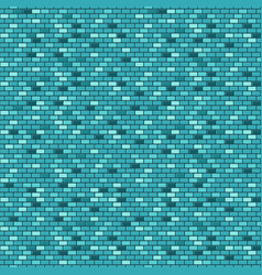 blue brick wall seamless pattern vector image
