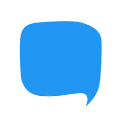 cartoon speech bubble icon vector image