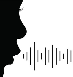 Child voice in black color vector