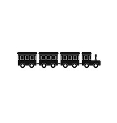 children train icon simple style vector image