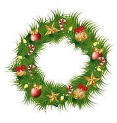 Christmas wreath decoration icon vector