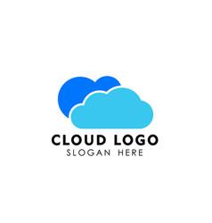 cloud logo design template icon vector image