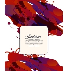 Colorful decorative invitation card with free vector